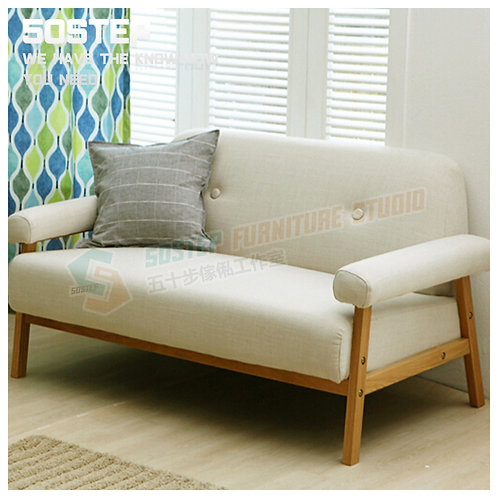 全新日式簡約兩/三座位木梳化 Brand New 2/3-seat wooden sofa, frabic