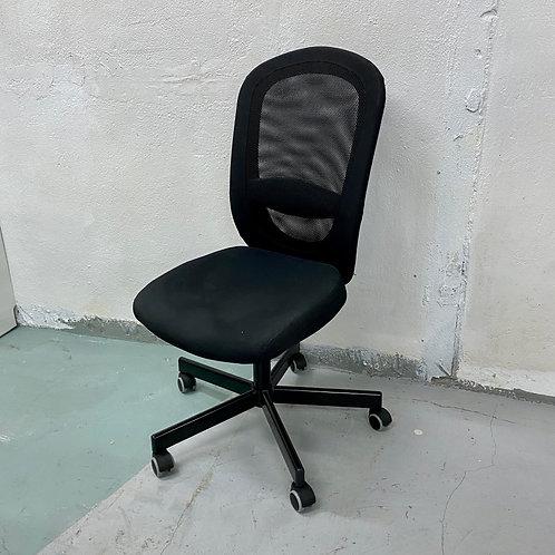 八成新辦公室黑色旋轉椅 FLINTAN Office chair, vissle black