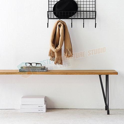 全新新西蘭進口實木造型鐵藝長櫈 Brand New wooden bench