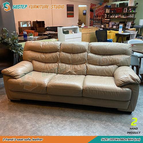 二手三座位皮梳化 2-hand 3-seat sofa, leather