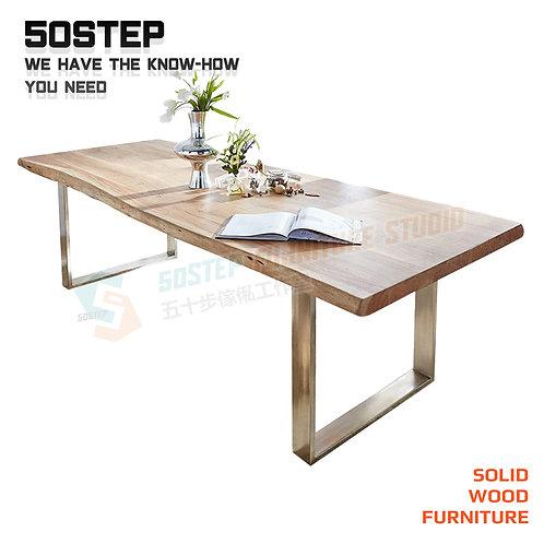 全新可訂造進口實木工業風餐檯 Brand New wooden dinning table