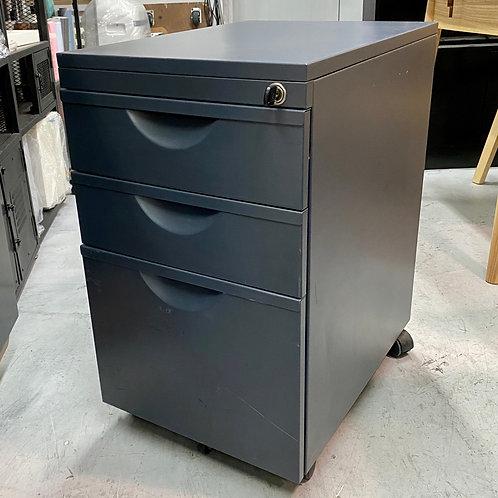 二手辦公室鋼活動櫃+鎖匙 2-hand office drawer metal cabinet w wheels/key