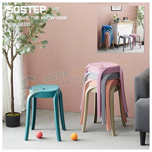 全新糖果色方形膠櫈 Brand New stool, plastic