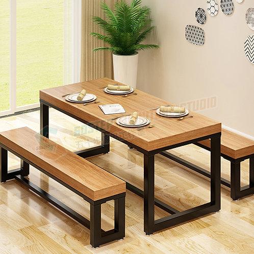 免費送貨美國進口簡約工業餐檯/餐檯長櫈組合 Free shipping solid dinning table/table w benches