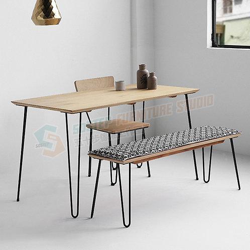 免費送貨新西蘭進口松木鐵藝實木餐檯/餐檯組合 Free shipping dinning table/table set