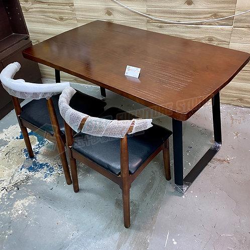 全新可訂造圓角設計美國進口實木餐檯連餐椅 Brand New solid wood dinning table/w chairs