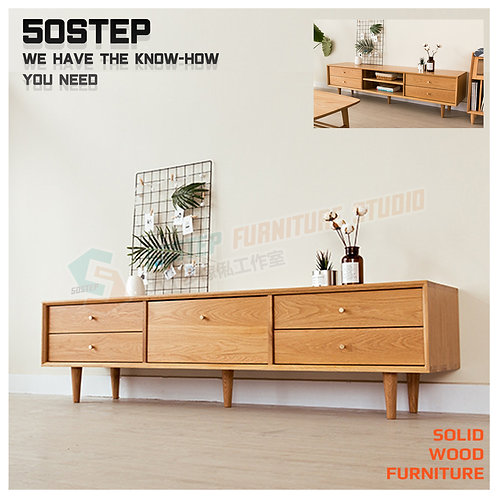 全新進口FAS級橡木/櫻桃木實木電視櫃 Brand New solid wood TV cabinet, oak/cherry wood