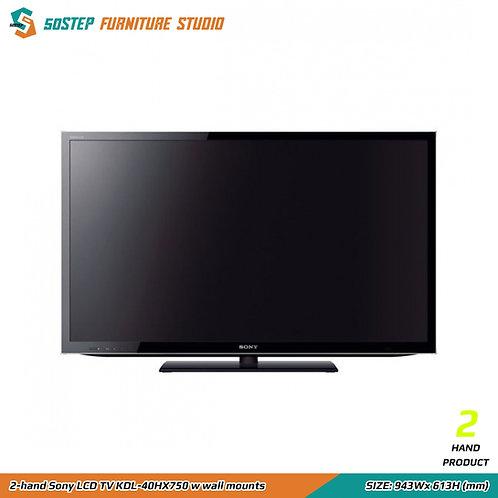 索尼40吋電視機連掛牆架 2-hand Sony LCD TV KDL-40HX750 w wall mounts