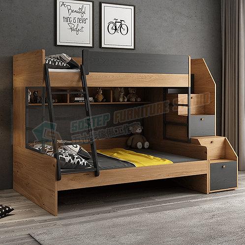 免費送貨摩登精品上下架碌架床連梯櫃層架組合 Free shipping bunk bed frame with drawers, shelving unit