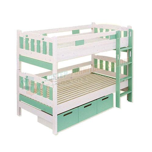 免費送貨芬蘭進口松木可分拆碌架床/床連儲物櫃 Free shipping twin-over-twin bunk bed/w drawers