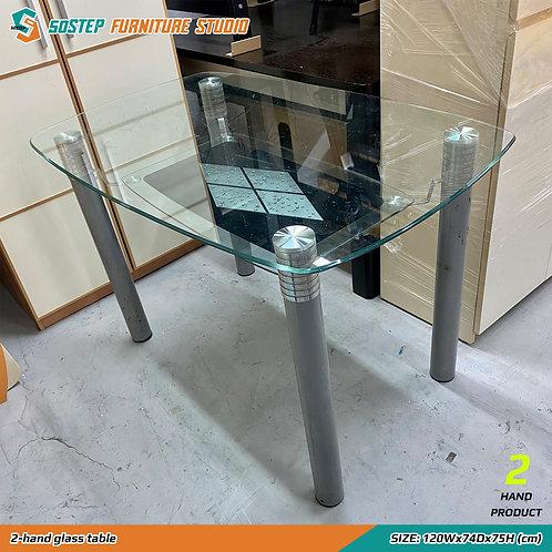 #免費 二手玻璃餐檯 2-hand glass table