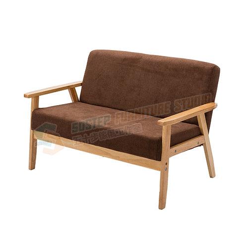 全新日式進口實木兩/三座位可拆洗布藝梳化 Brand New 2/3-seat sofa