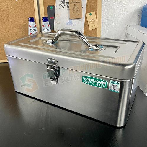 #現貨 430不鏽鋼專業雙層加厚高承重手提式機電工具箱 Large capacity tool box, 403 stainless steel