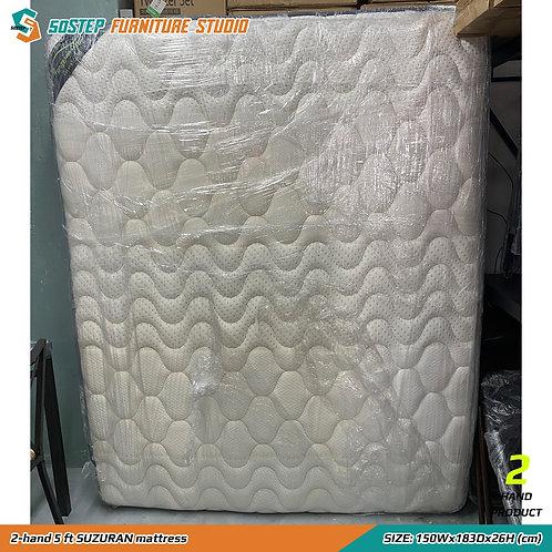 二手五呎睡康寧床褥 2-hand 5 ft SUZURAN mattress