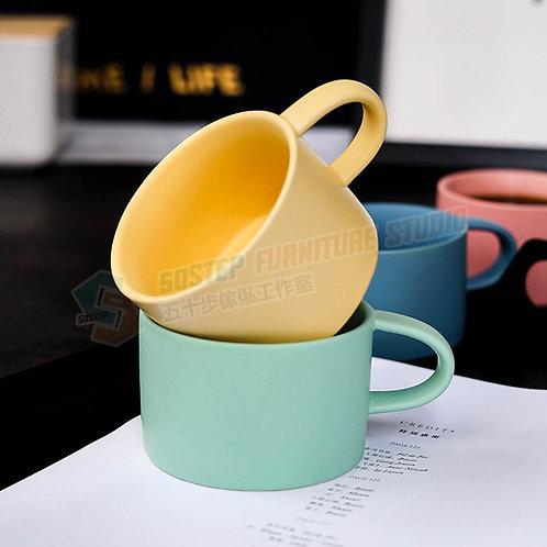 #現貨 彩色磨砂陶瓷咖啡杯 Mug