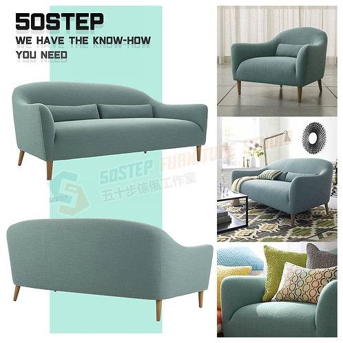全新日式簡潔素色單/兩/三座位梳化 Brand New 1/2/3 seat sofa, fabric