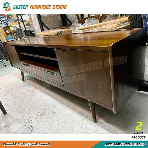 八成新美國黃楊木實木電視櫃 2-hand TV cabinet, solid wood