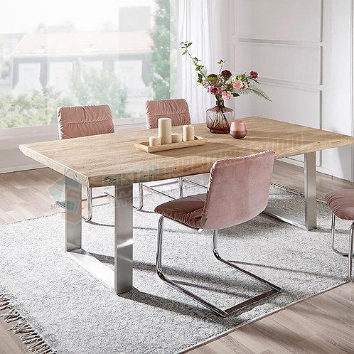 全新可訂造新西蘭進口原木工業風餐檯 Brand New wooden dinning table