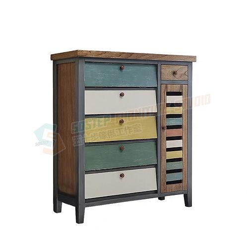 免費送貨美式懷舊多門鞋櫃儲物櫃 Free shipping vintage style shoe cabinet/storage