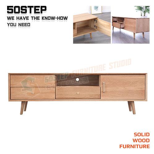全新進口FAS級橡木實木電視櫃 Brand New solid wood TV cabinet, oak