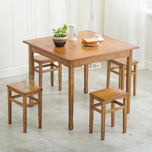 全新楠竹正方形餐檯/連四櫈 Brand New table/w benches, bamboo