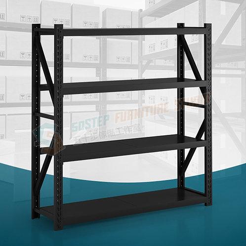 全新磨砂黑貨倉大型貨架陳列架鐵架層架 Brand New rack/shelving unit