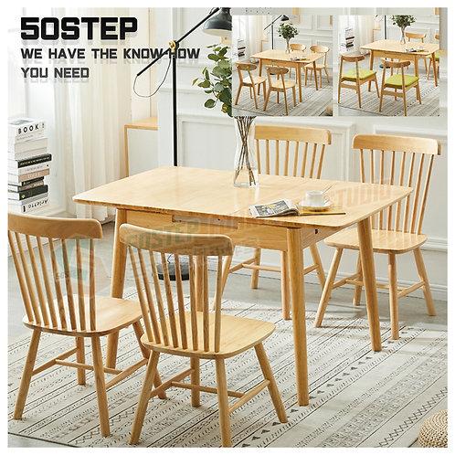 全新泰國進口實木自動升降開合餐檯/連餐椅或長櫈 Brand New solid wood dinning table/table set