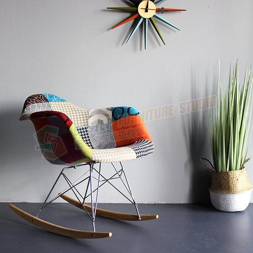 全新設計師傢俱拼布扶手搖椅 Brand New designer rocking-chair