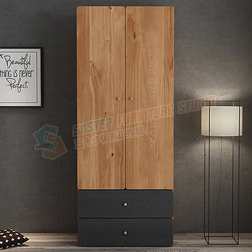 免費送貨摩登精品雙門衣櫃 Free shipping modern wardrobe with drawers