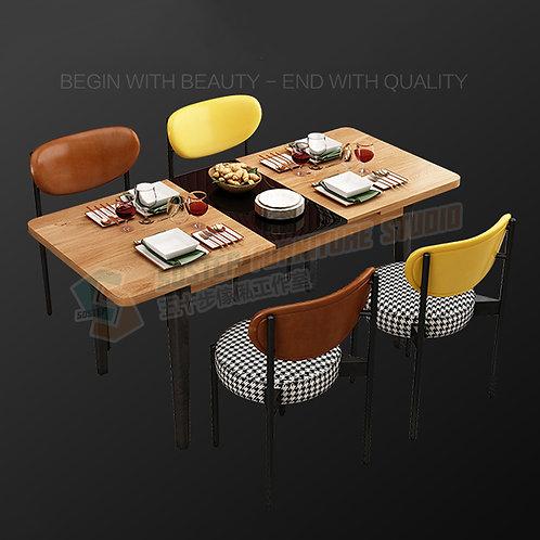 全新摩登精品伸縮開合玻璃餐檯/連餐椅 Brand New modern extendable dinning table/w chairs