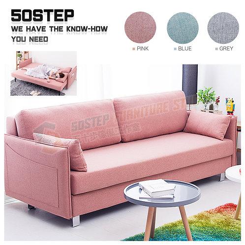 全新日式布藝拆洗儲物梳化床 Brand New sofa bed
