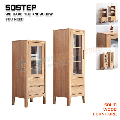 全新進口FAS級橡木實木玻璃餐邊櫃酒櫃 Brand New solid wood sideboard, glass