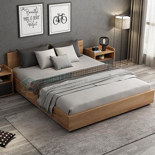 全新摩登精品簡易五呎雙人油壓儲物床架 Brand New modern ottoman bed with drawers, 5ft.