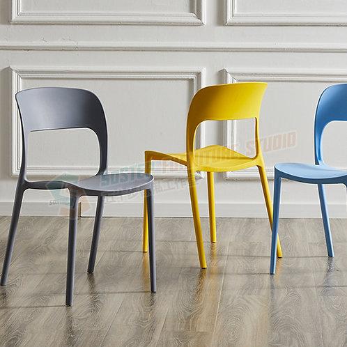 全新純色可疊高膠櫈餐椅 Free shipping chair, plastic