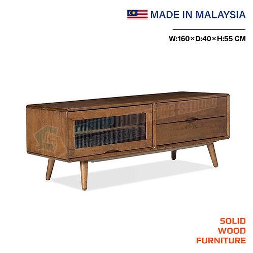 全新馬來西亞製造玻璃門電視櫃 Brand New solid wood TV cabinet, made in Malaysia