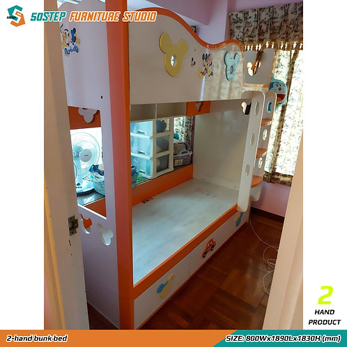 二手兩呎半兒童碌架床 2-hand bunk bed