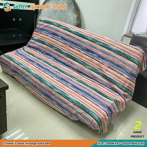 二手儲物梳化床 2-hand 3-seat stroage sofa bed