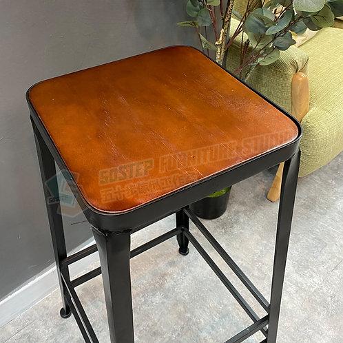 全新可訂造美國進口實木工業風吧櫈 Brand New solid wood bar chair