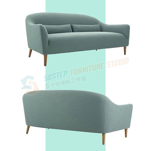 全新日式簡潔素色梳化 Brand New sofa, fabric