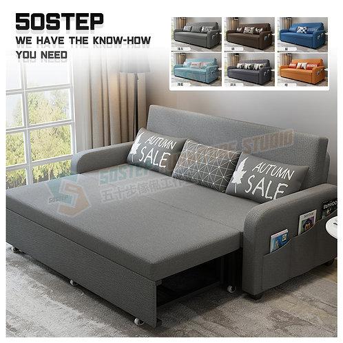 全新鋼結構超承重儲物梳化床 Brand New storage sofa bed, metal frame