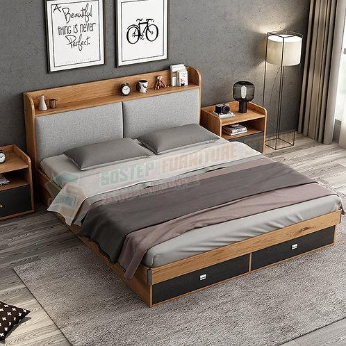 全新摩登精品五呎雙人油壓儲物床架 Brand New modern ottoman bed with drawers, 5ft.