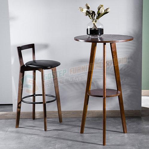 全新美式復古實木圓形吧檯 Brand New solid wood bar table