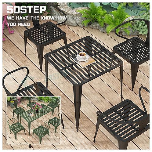 全新復古方形長型戶外餐檯/連餐椅 Brand New outdoor table/w chairs