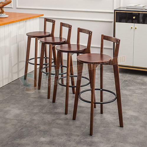 免費送貨櫸木實木吧椅吧櫈高腳椅 Free shipping solid wood bar stool with backrest, beech
