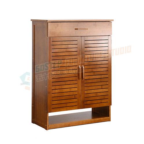 全新楠竹百葉門鞋櫃 Brand New shelving unit, bamboo