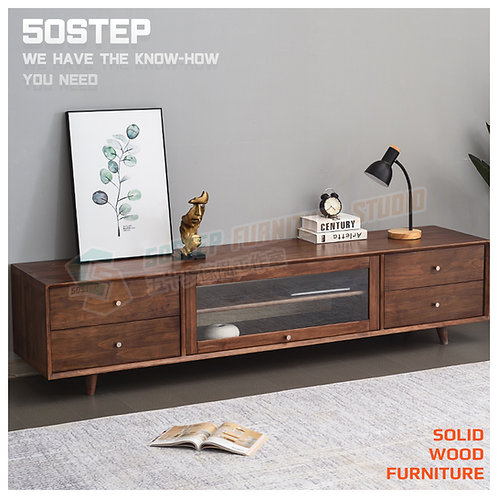 全新進口實木翻蓋玻璃門電視櫃 Brand New solid wood TV cabinet, glass