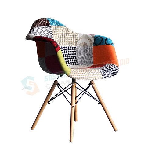 全新設計師傢俱拼布扶手餐椅 Brand New designer chair