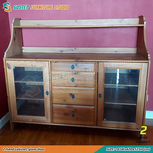 二手玻璃門餐邊櫃 2-hand cabinet, glass door
