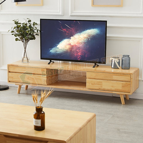 全新泰國進口實木電視櫃地櫃 Brand New solid wood TV cabinet
