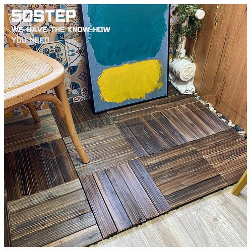 全新碳化環保防腐拼接地板(10塊) Brand New outdoor floor decking(10pcs)